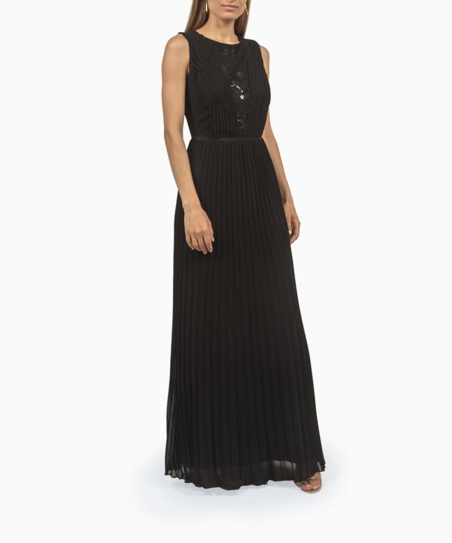 Robe longue Ralph Lauren Pleated Chiffon Gown 2