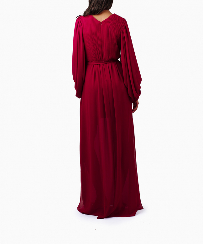 HALSTON HERITAGE long dress rental Fortuny. 3