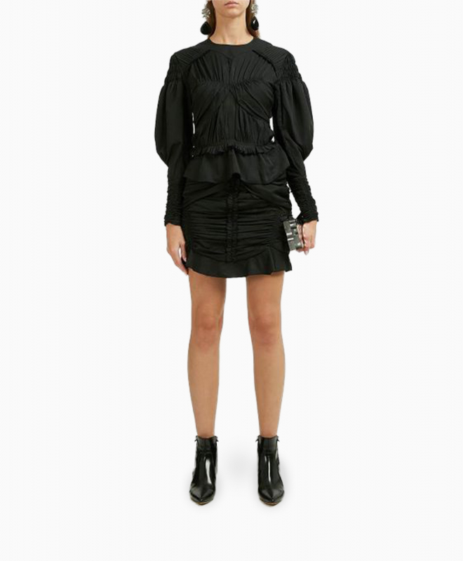 Location Top Isabel Marant Ullo Ruched Noir 1