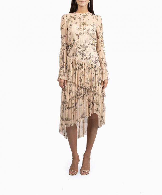 Zimmermann Maples Tier Nude dress rental 2