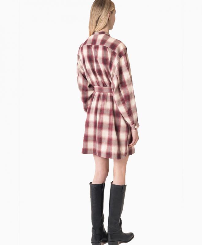 Location robe VANESSA BRUNO Maya Aubergine 4