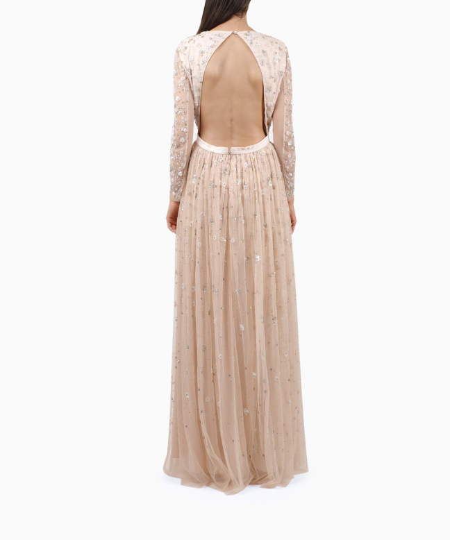 NEEDLE & THREAD long dress rental Celestial. 3