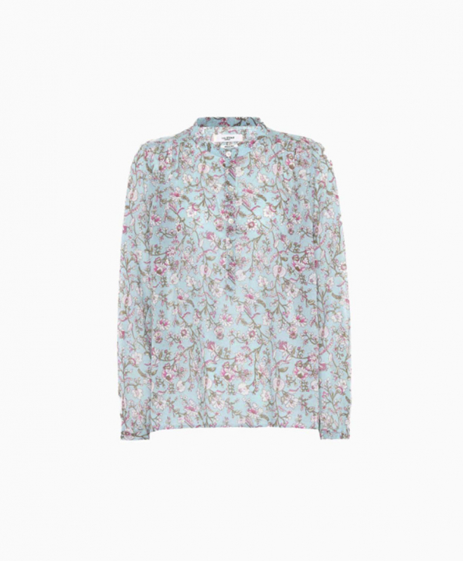 Location Top ISABEL MARANT Maria-Floral-Bleu