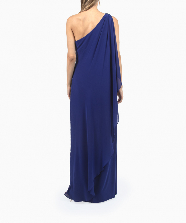 Location robe longue Ralph Lauren Georgette Cape Gown 5