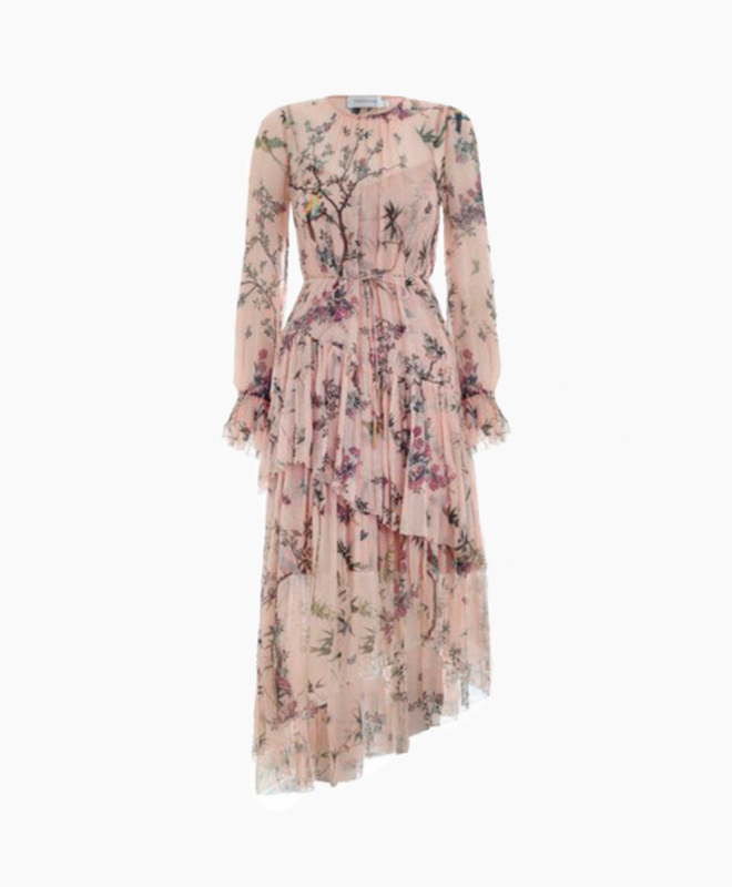Zimmermann Maples Tier Nude dress rental 1