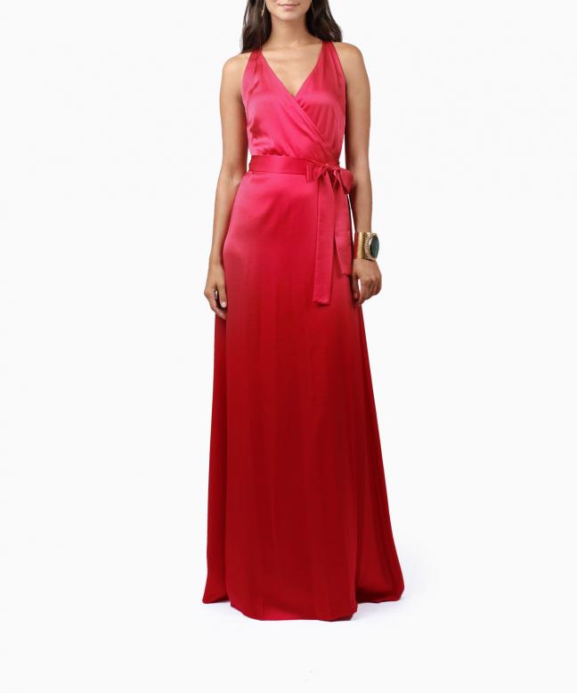 Location robe longue DVF Paola 2