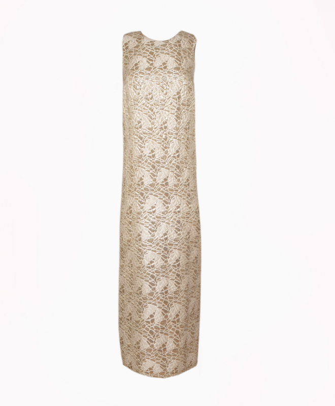 PAULE KA long dress rental Nude Goddess. 1