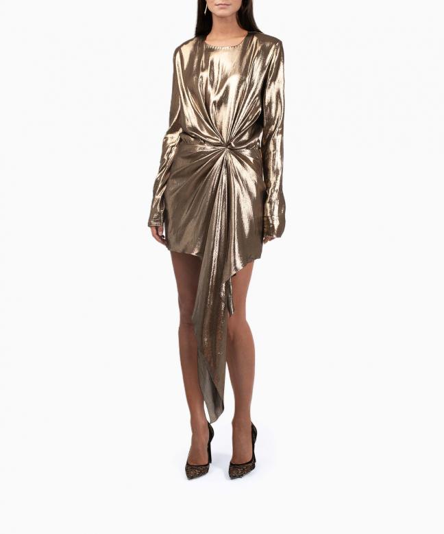 Location robe Saint-Laurent Gold 2