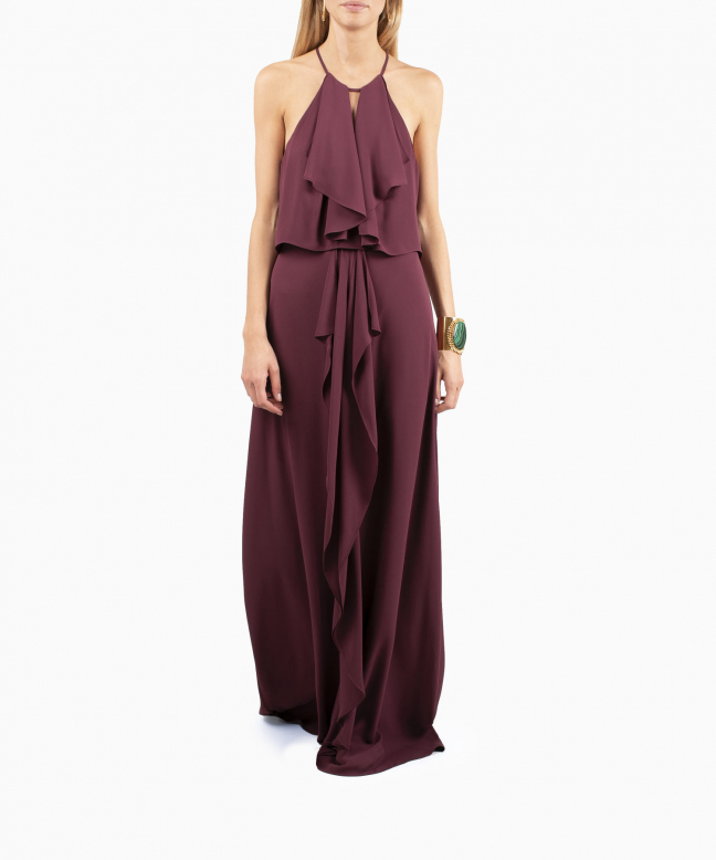 Location robe BCBG Jansia Bordeaux 2