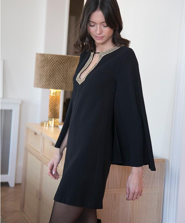 Location robe Vanessa Seward Antique Noire 4