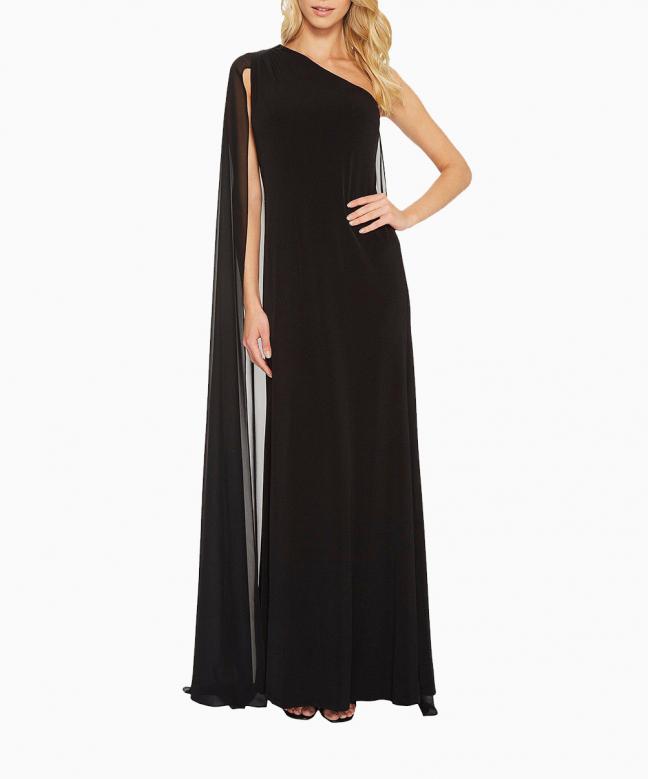 CALVIN KLEIN long dress rental Asymmetric. 2