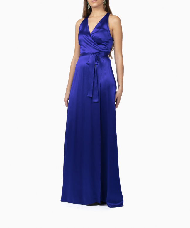 Location robe Diane Von Furstenberg Paola Blue Wrap 2