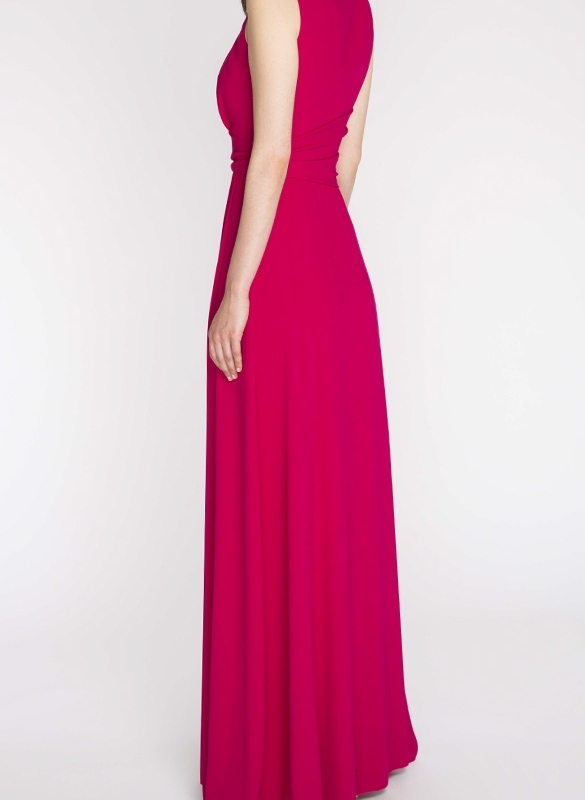 PAULE KA long dress rental Goddess pink. 3