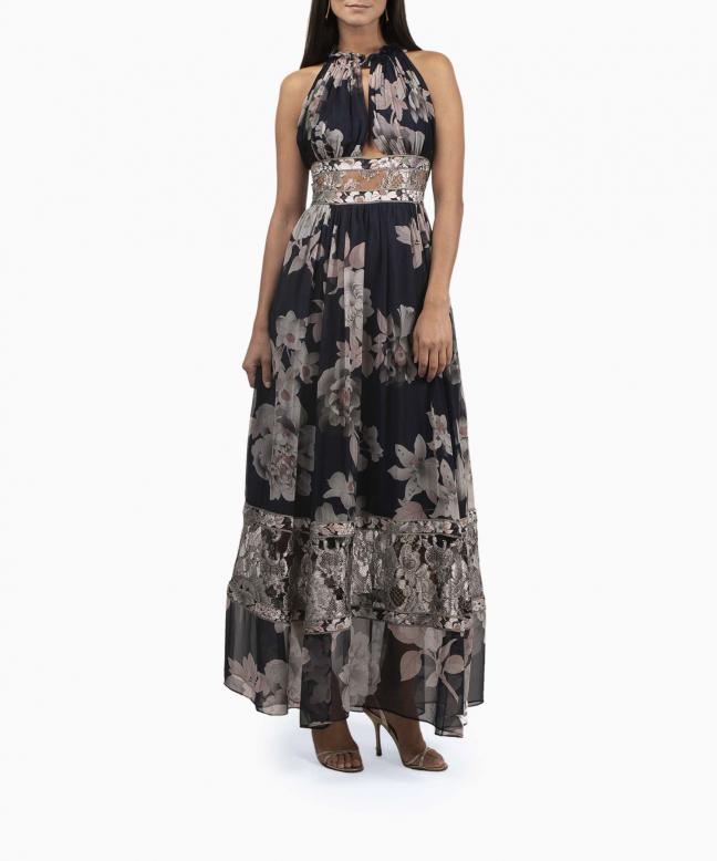 LEONARD long dress rental Celeste. 4