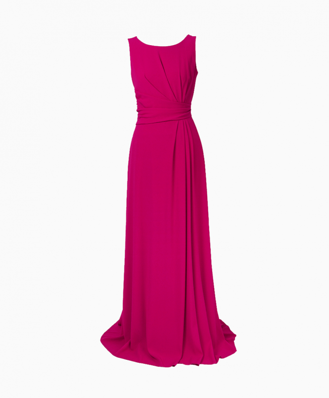 PAULE KA long dress rental Goddess pink. 1