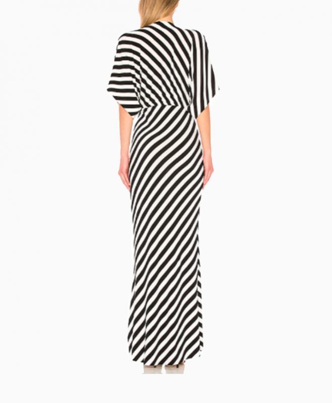 Location robe NORMA KAMALI Striped 4