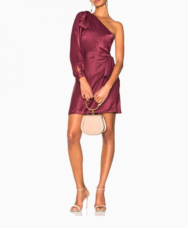 Location robe Zimmermann Maples Bow Burgundy 1
