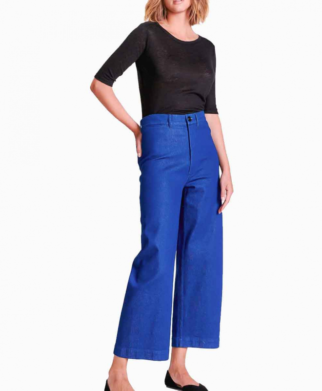 Location pantalon BELLEROSE Lotan Bleu Fonce 4