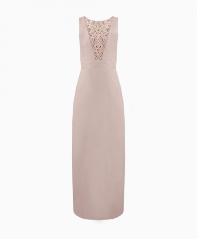 KARL LAGERFELD long dress rental Lace Plunge. 1