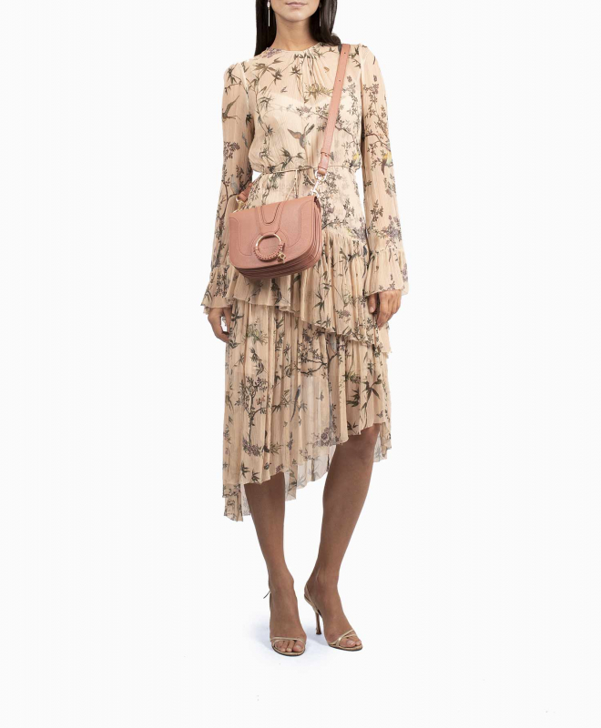 Zimmermann Maples Tier Nude dress rental 4