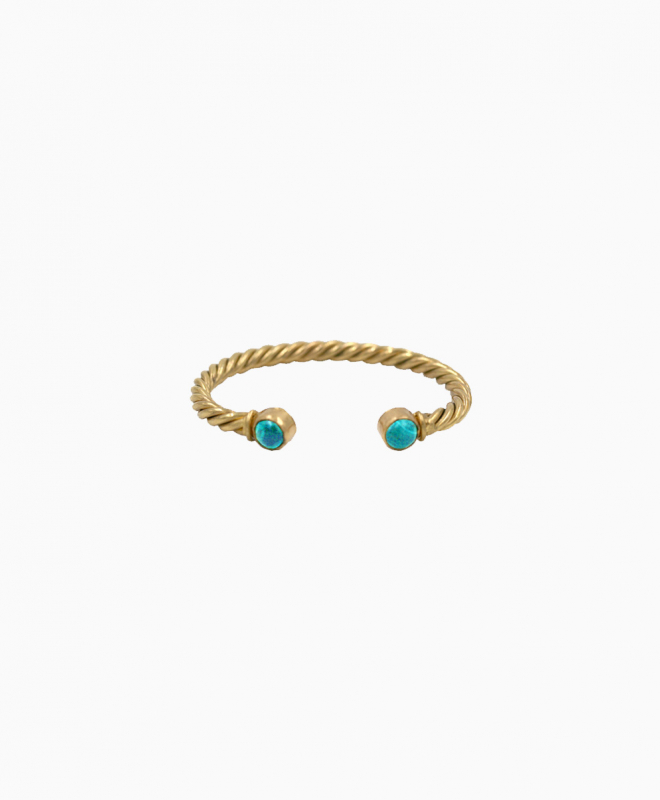 SYLVIA TOLEDANO bracelet rental Eros. This fine gold plated bracelet with turquoise stones is perfect to dress up your dress at a cocktail, ceremony or dinner in town. 1