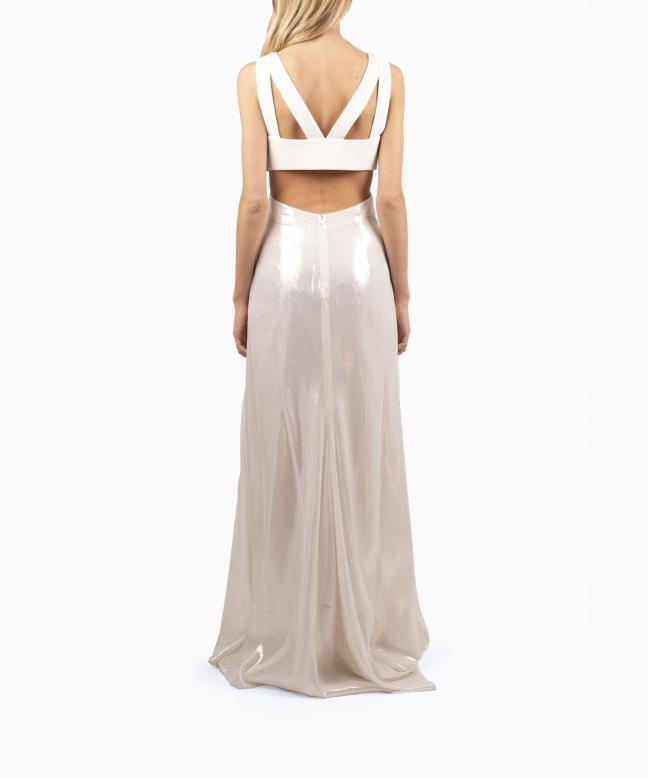 Location robe blanche PAULE KA Iris 3