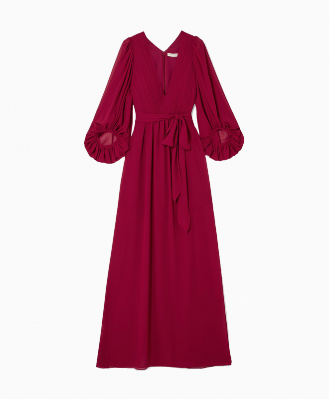 HALSTON HERITAGE long dress rental Fortuny. 1