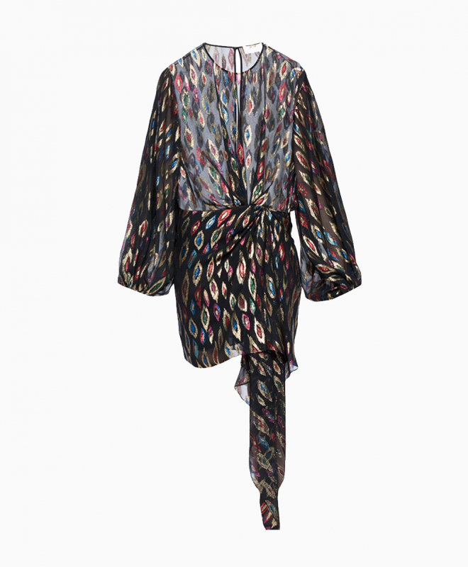 Location robe Saint Laurent Peacock 1