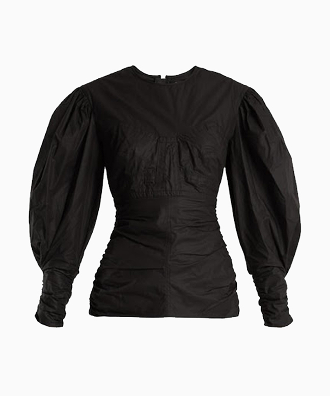 Location Top Isabel Marant Ullo Ruched Noir 2