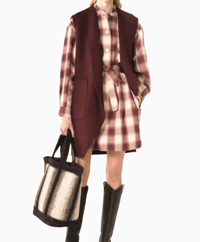 Location robe VANESSA BRUNO Maya Aubergine 3