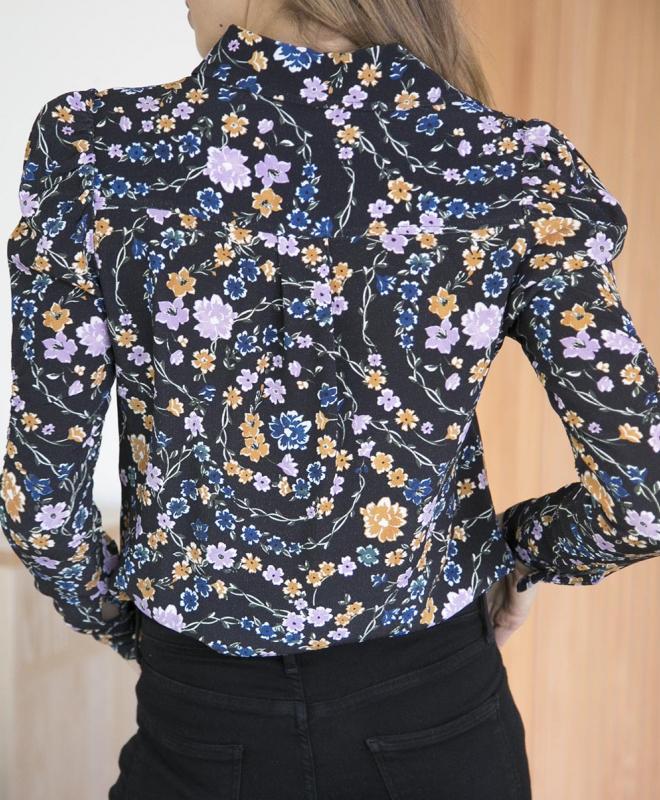 Location Blouse SeeByChloe Imprimé Floral Noir 4