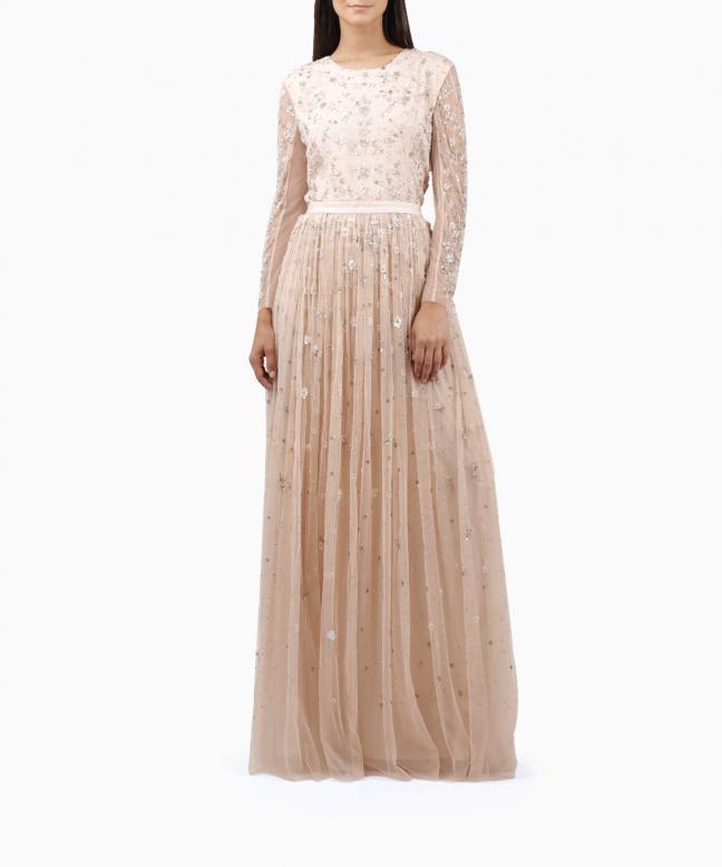 NEEDLE & THREAD long dress rental Celestial. 2