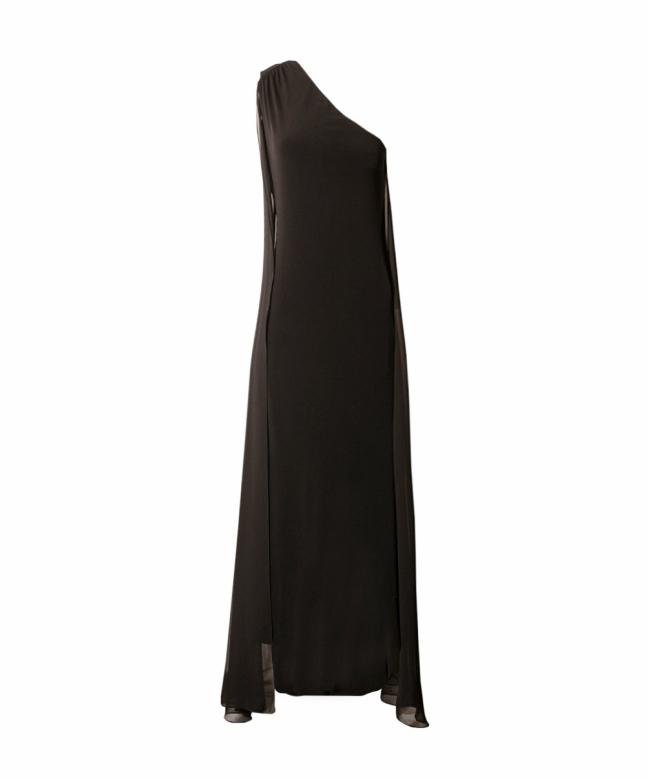 CALVIN KLEIN long dress rental Asymmetric. 1