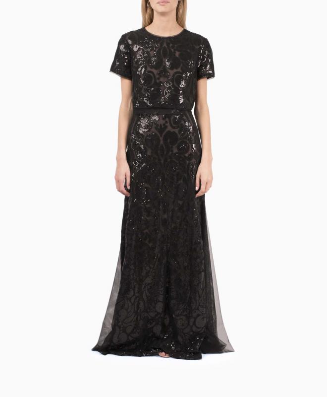 BCBG long dress rental Maris. 1