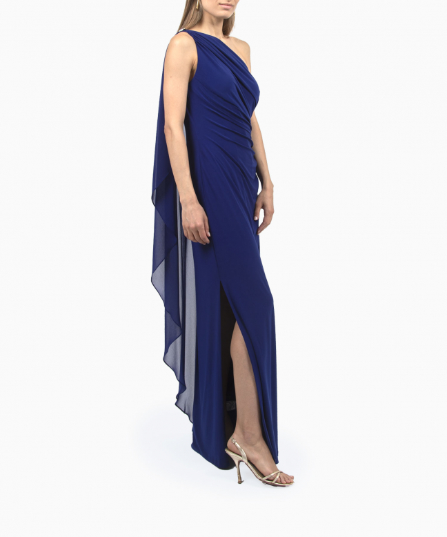 Location robe longue Ralph Lauren Georgette Cape Gown 4