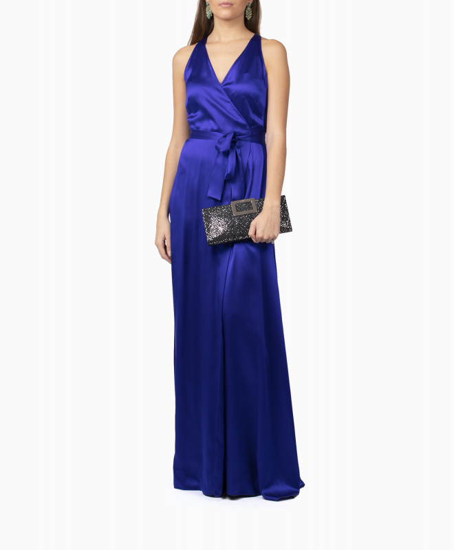 Location robe Diane Von Furstenberg Paola Blue Wrap 4