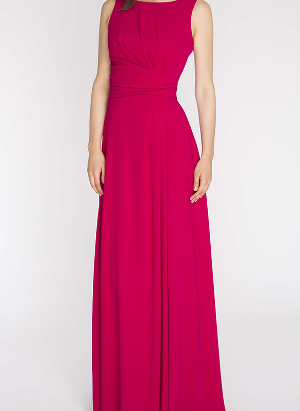 PAULE KA long dress rental Goddess pink. 2