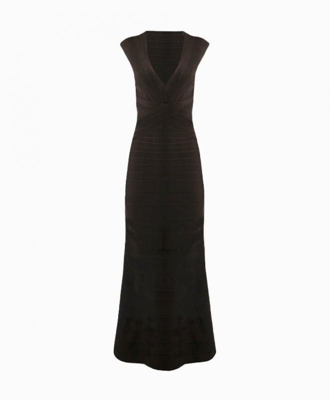 Location robe longue Hervé Léger Roma 1