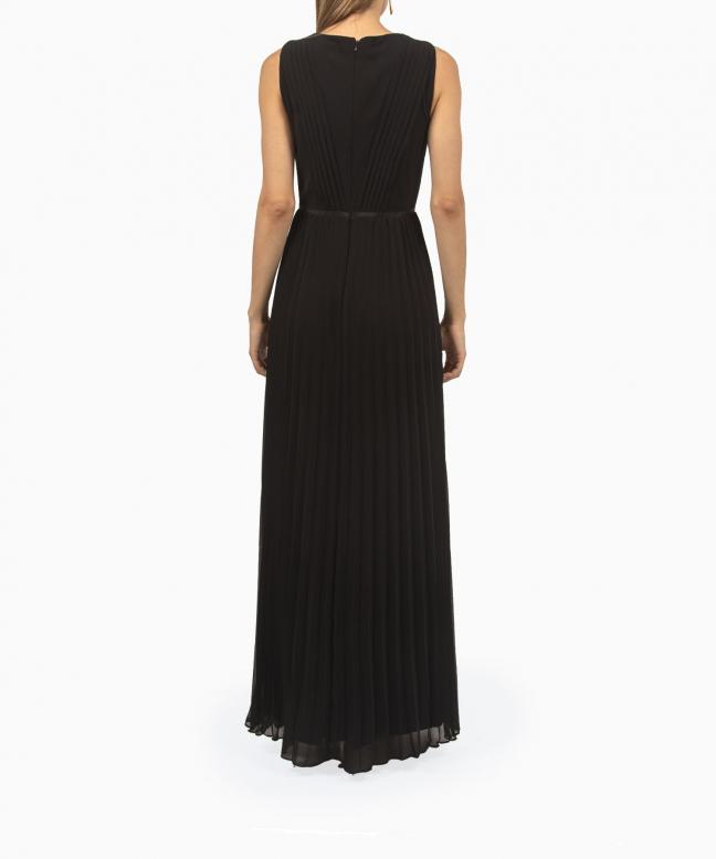 Robe longue Ralph Lauren Pleated Chiffon Gown 3