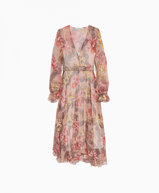 Location robe Philosophy Di Lorenzo Serafini Floral Ruffled 1