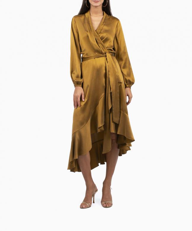 Location robe Wrap Flounce Bronze 2