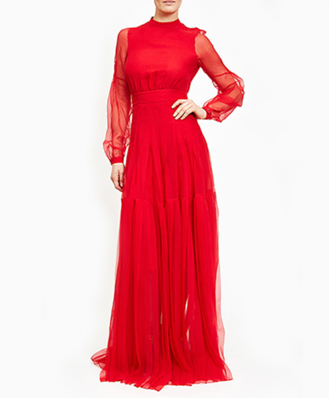 Location robe rouge ROCHAS 2