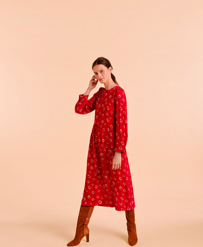 Location robe Tara Jarmon Rouge 2