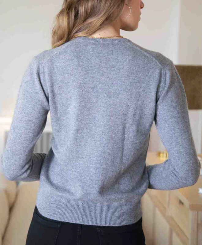 Location pull ERIC BOMPARD Cachemire Crew Neck Gris 4