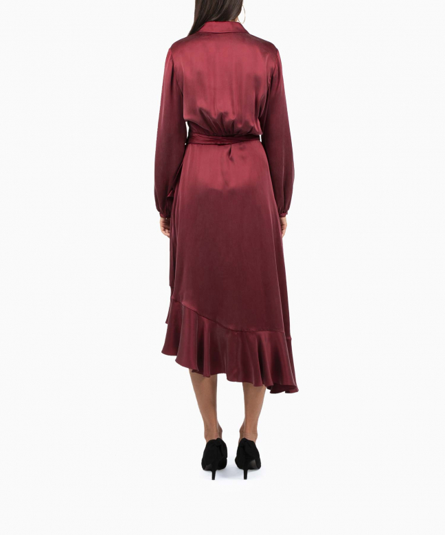Location robe Zimmermann Wrap Flounce Bordeaux 3