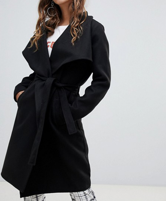 Location manteau croise noir JDY 2