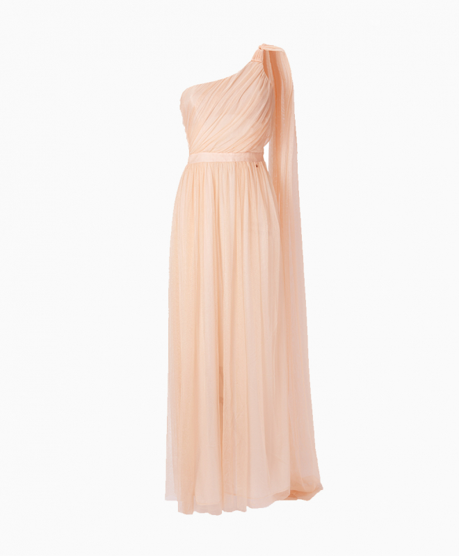 ELISABETTA FRANCHI long dress rental Blush. 1