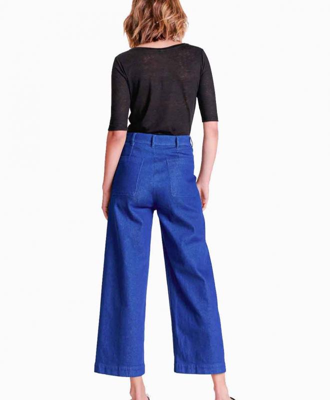 Location pantalon BELLEROSE Lotan Bleu Fonce 3