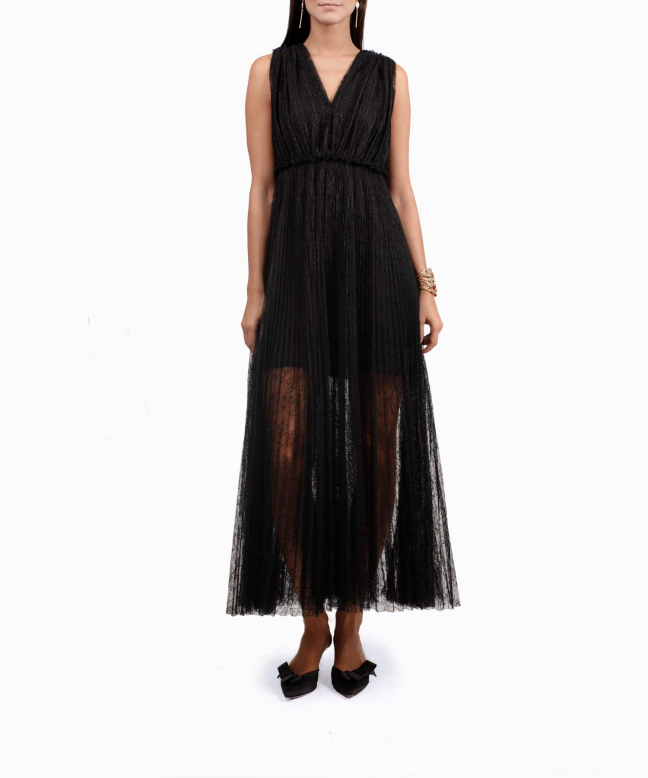 MSGM long dress rental Lace. 2