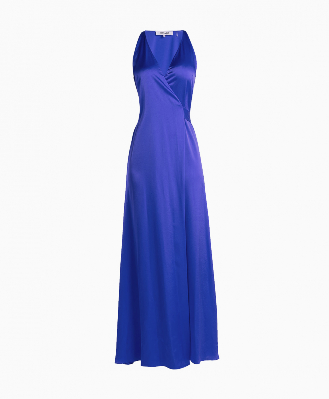 Location robe Diane Von Furstenberg Paola Blue Wrap 1
